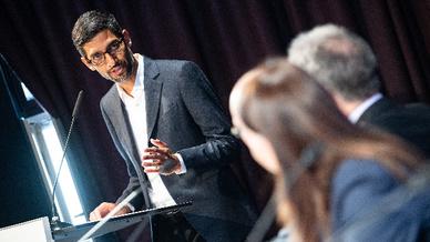 Sundar Pichai, CEO von Google bei der Eröffnung der neuen Hauptstadtrepräsentanz
