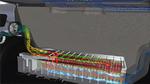 Simulation der Luftströmungen eines Kofferraumkühlsystems für ein Elektrofahrzeug-Batteriepack