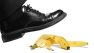 Fehltritt Ausrutscher Bananenschale