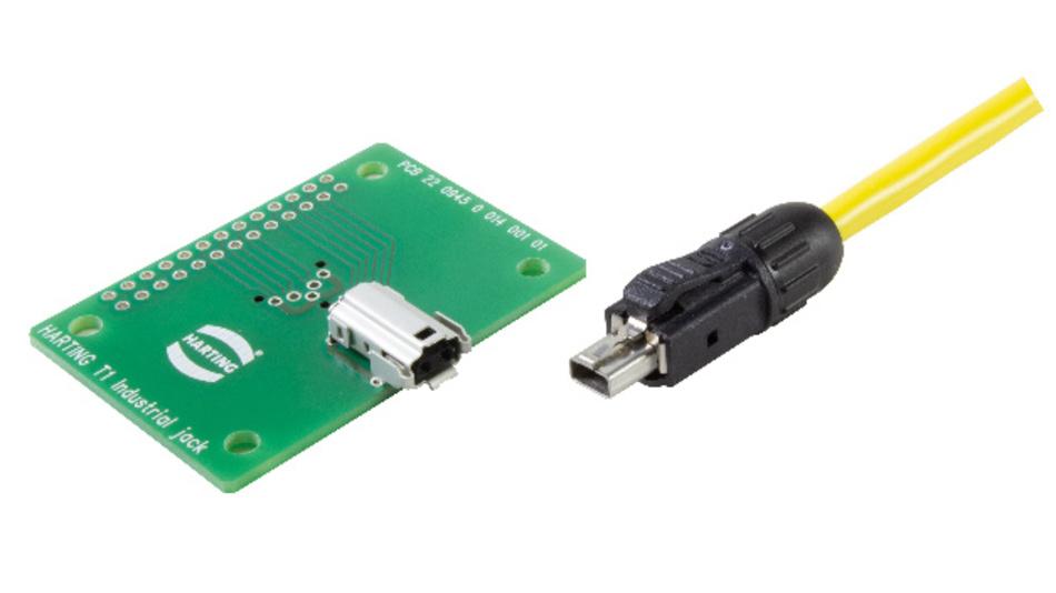 mit dem T1 Industrial zeigt Harting ein erstes Serienprodukt mit normierter Schnittstelle für Signle-Pair-Ethernet.