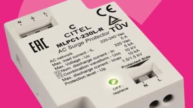 Aktives Überspannungsschutzgerät von CITEL Electronics