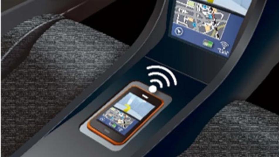 Wireless-Charging-Lösung mit NFC-Kommunikation für Automobilanwendungen von Rohm.