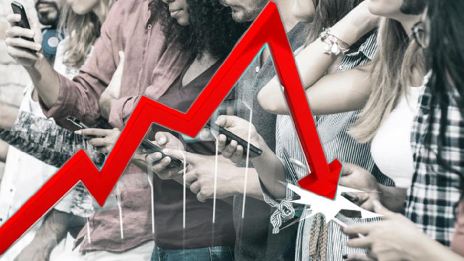 Smartphone-Markt 2018 zum ersten Mal im Rückwärtsgang.