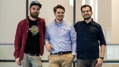 Gründerteam von ichó (v.l.n.r.): Mario Kascholke, Steffen Preuß und Eleftherios Efthimiadis.