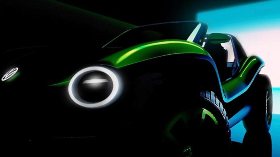 Der Buggy kehrt zurück: Auf dem Genfer Autosalon stellt Volkswagen eine vollelektrische Version des Klassikers.