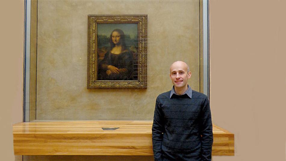 Die Mona Lisa wird durch eine spezielle Glasvitrine gut geschützt.