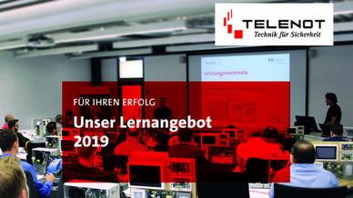 Mehr als 350 Seminare bietet das neue Schulungsprogramm von Telenot im Jahr 2019.