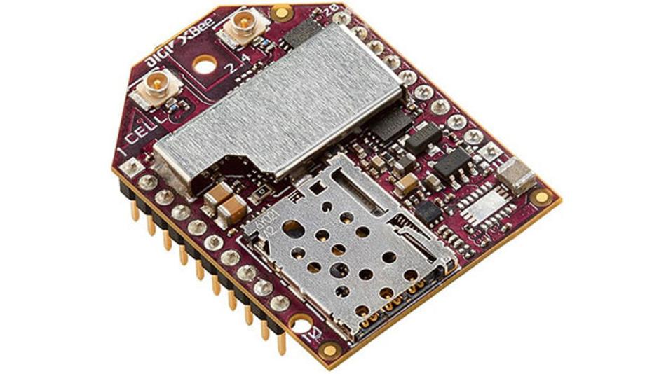 Bild 1. Das Mobilfunkmodem XB3-C-A2-UT-001 von Digi International ist nur etwas größer als eine 50-Eurocent-Münze und verfügt über einen SIM-Karten-Einschub.