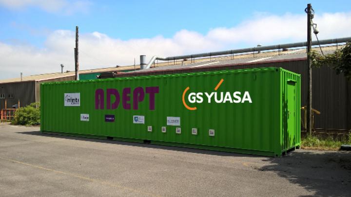 Energiespeicherplattform ADEPT auf Container-Basis