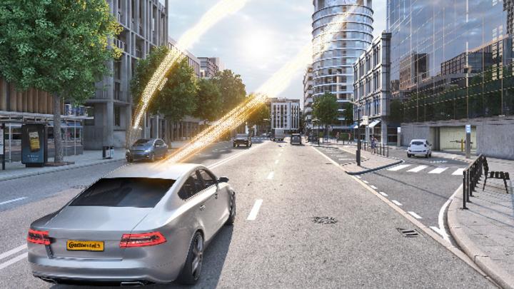 Continental sichert sich durch die Übernahme das Knowhow bei der Verkehrsvernetzung. Verschiedene V2X-Technologien wie 5G Hybrid-V2X ermöglichen die Kommunikation über das Mobilfunknetz sowie den schnellen, direkten Datenaustausch.