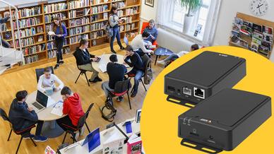 Der neue AXIS Netzwerk-Audio-Amplifier verwandelt einen normalen passiven Lautsprecher in einen IP-basierten Lautsprecher.