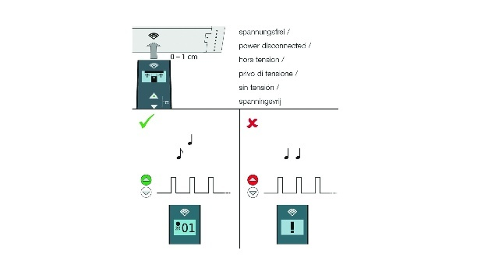 Bild 4: Programmierung mit optischer und akustischer Rückmeldung.
