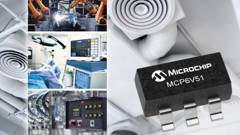 Der neue Zero-Drift-OpAmp minimiert dank integrierter EMI-Filterung den Einfluss von HF-Störungen.