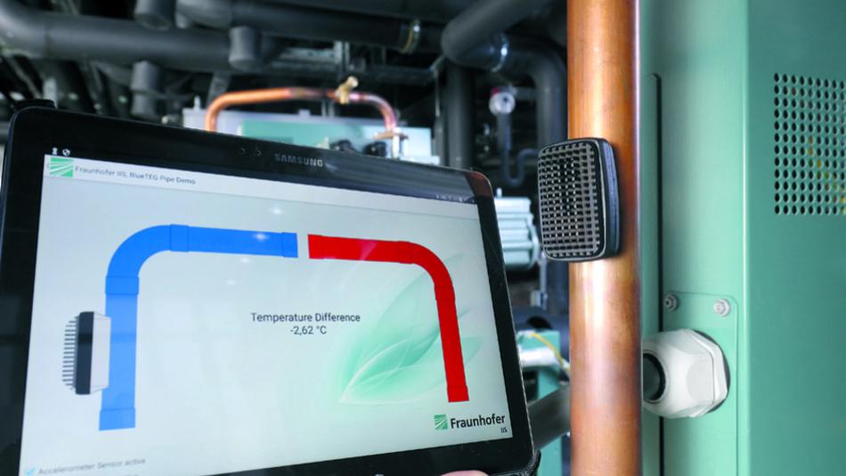 Mit dem Temperaturunterschied von Heizungsrohren kann elektrische Energie für IoT-Sensoren gewonnen werden.