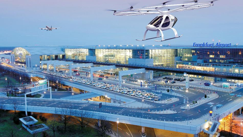 Volocopter wollen ihn zum ersten Flughafen in Europa ausbauen, der einen Flugtaxi-Service bietet.