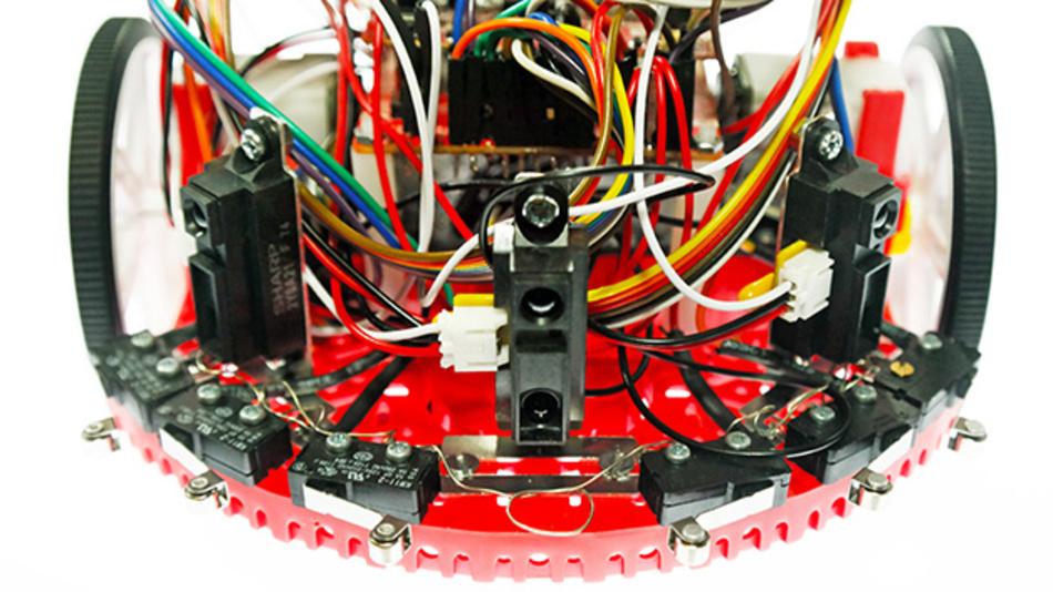 Das Roboter-Kit von Texas Instruments.
