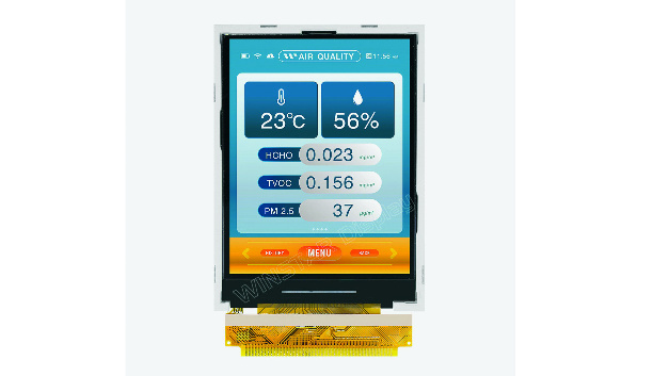 Transflektives Display für tragbare Elektronik im Kleinformat.