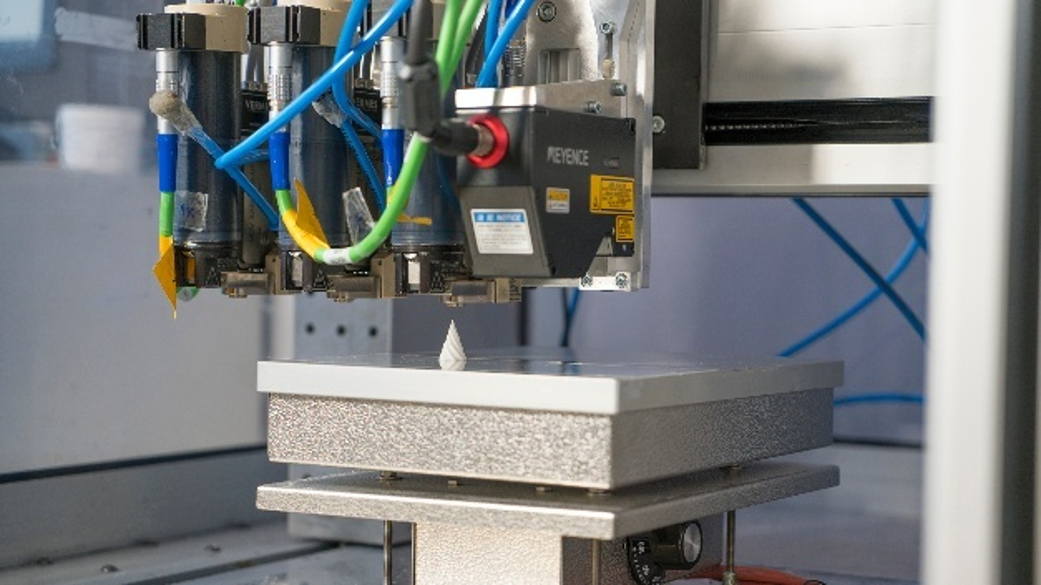 Im Projekt »AddiLine« entsteht ein prozessintegriertes Prüfsystem, das die Qualität der 3D-gedruckten Komponente beim Entstehen in Echtzeit überwacht.
