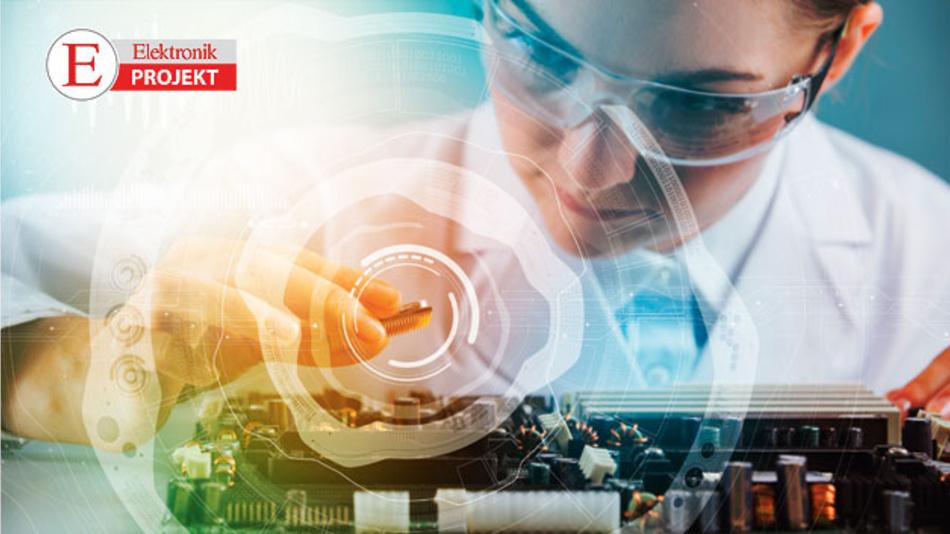 Test-Vorbereitung für IoT-Mikrocontroller mit BLE in einer Testumgebung aus Hard- und Software.
