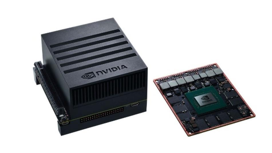 Bild 1: Der Jetson Xavier von Nvidia (links) mehr Rechenleistung bietet als eine leistungsstarke Workstation. Herzstück ist der Xavier-Prozessor, der eine 512-Core-GPU namens Volta mit Tensor-Cores enthält.