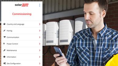 SolarEdge-Wechselrichter können jetzt einfach per App in Betrieb genommen und konfiguriert werden.