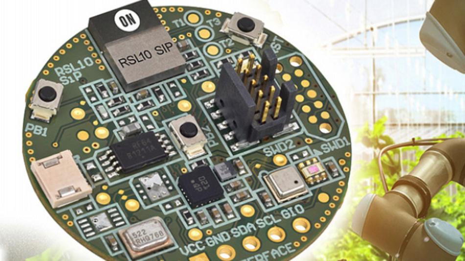 Low-Power Sensor-Entwicklungskit für drahtlose Datenübertragung und Cloud-Anbindung.
