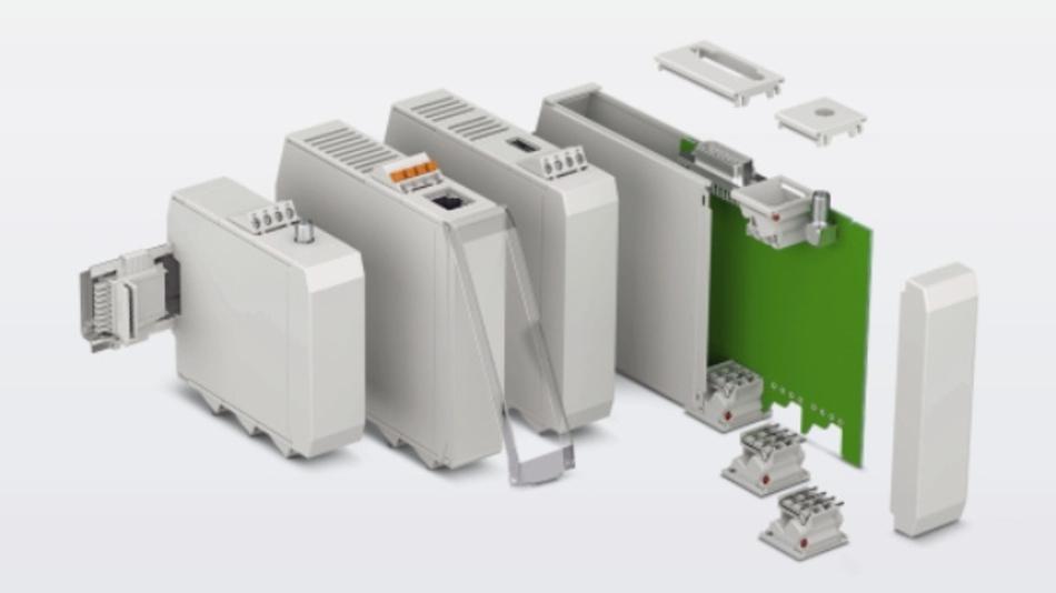 Als flexibles Baukastensystem angelegt ist die Gehäuseserie ICS von Phoenix Contact.