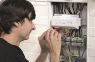 Installation eines EnergyManagers von Solarwatt