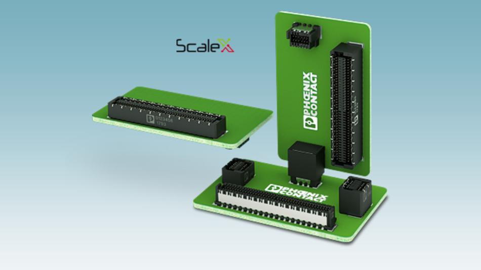Zur Integration in den vollautomatisierten SMT-Prozess eignen sich die neuen Board-to-Board-Steckverbinder der Serie »Finepitch« von Phoenix Contact.