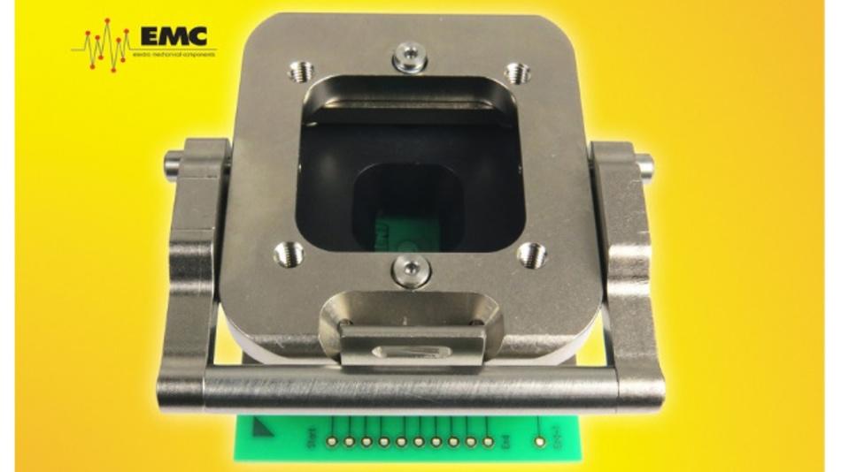 Der GT-Sockel von Ironwood Electronics ist für verschiedene Finepitch-BGA-Gehäusegrößen ausgelegt und arbeitet mit Bandbreiten von bis zu 75 GHz mit weniger als 1 dB Einfügedämpfung.