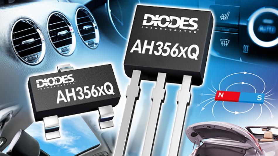 Automotive Grade 0 konforme Omnipolare Halleffekt-Schalter von Diodes sind für belastungsfähige Anwendungen im Automobil konzipiert.