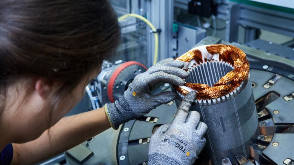Die E-Motorenfertigung im BMW Kompetenzzentrum E-Antriebsproduktion in Dingolfing.