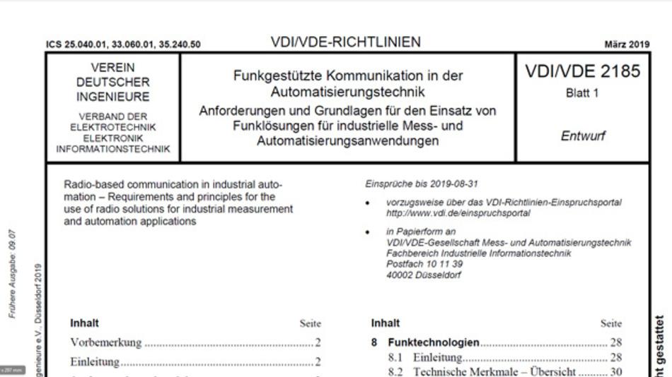 Neue aktualisierte Fassung der Richtlinie VDI/VDE 2185