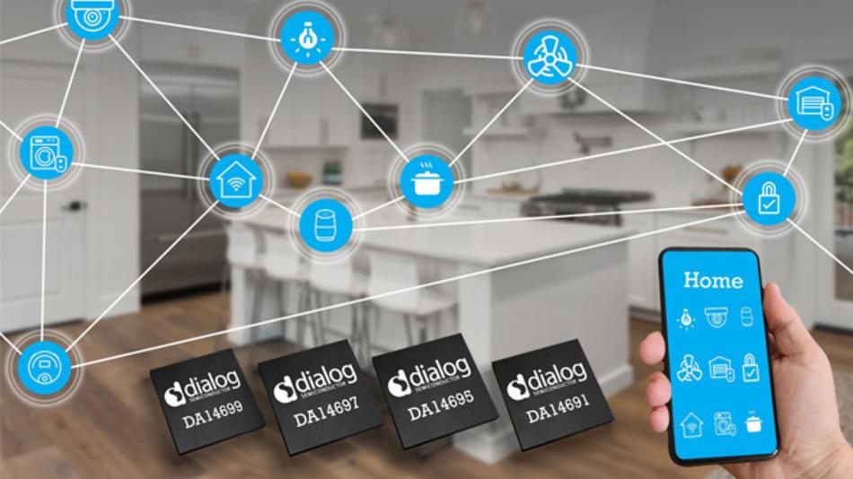 Die DA1469x-Serie bietet erweiterte Anschlussmöglichkeiten, die es Entwicklern ermöglicht ihre Geräte zukunftssicher zu machen und den Anforderungen mehrerer Anwendungen gerecht zu werden.
