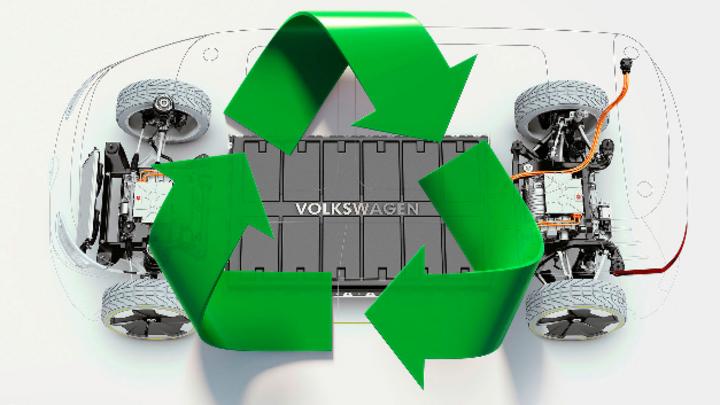 Batteriezellen-Recycling von Volkswagen