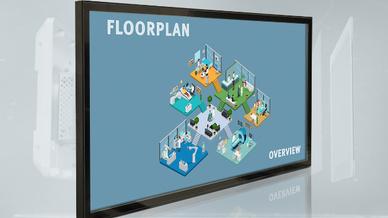 """Der 55"""" PCAP Multi Touch UHD Monitor eignet sich unter anderem für Anwendungen in der Medizin."""