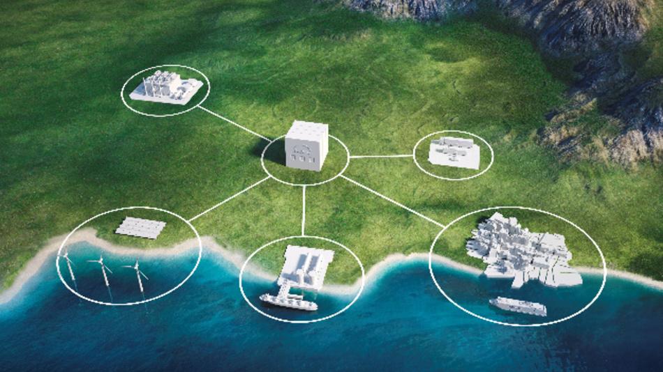 Synthetisches LNG wird mit dem Power-to-X Verfahren aus erneuerbarer Energie gewonnen und kann Schiffe in Zukunft regenerativ antreiben.