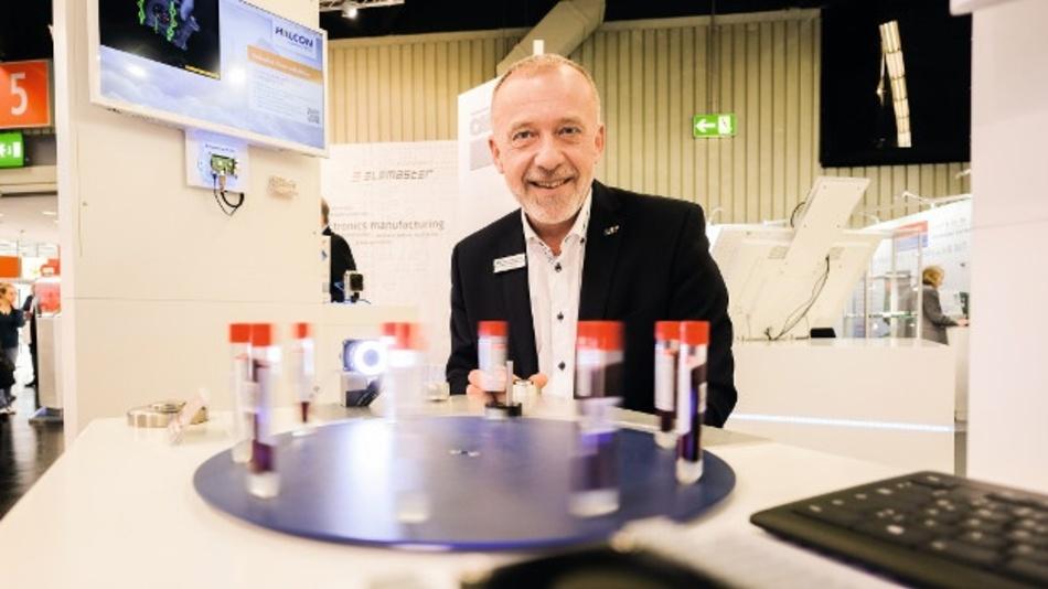 Embedded Vision ist eines der Trend-Themen der embedded world 2019. Gerhard Wagner führt eine Bilderkennungsapplikation auf dem Stand von MVTec Software vor.