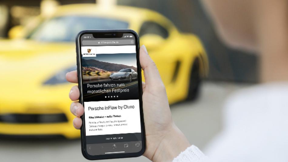 »Porsche inFlow« ermöglicht über das Smartphone eine flexible Fahrzeugnutzung.
