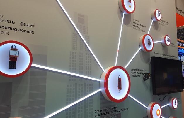 Zu den großen Themen zählten in diesem Jahr erneut Anwendungen für das Internet der Dinge (IoT). Das konnten die Besucher unter anderem am Stand von Texas Instruments sehen.