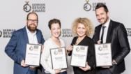 Die Auszeichnungen des German Design Awards für Busch-Jaeger nahmen Alexander Grams, Dörte Thinius, Christina Geier und Mirko Simon (von links) entgegen.