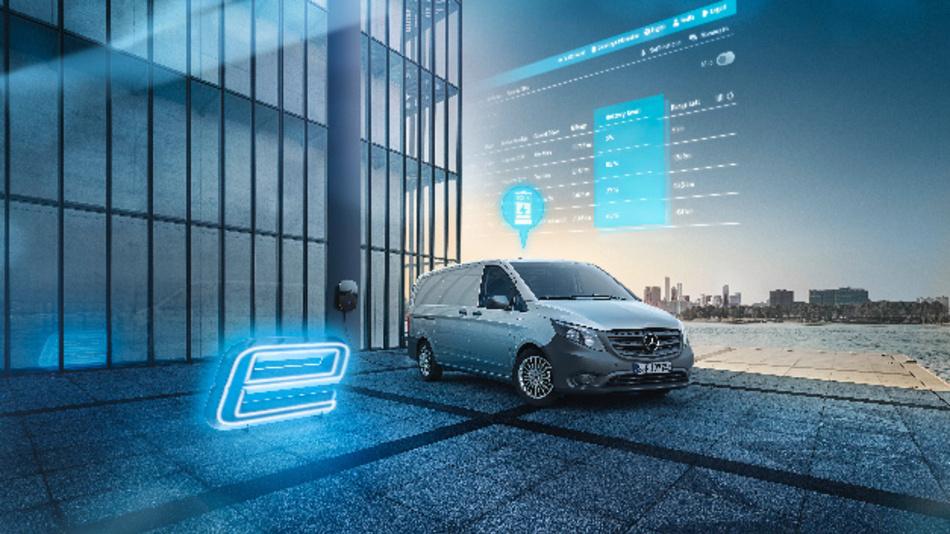 Der elektrische Mercedes-Benz eVito ist in Deutschland mit Mercedes PRO connect verfügbar.