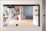Touchpanel Divus Touchzone mit der Bedienoberfläche Divus Optima