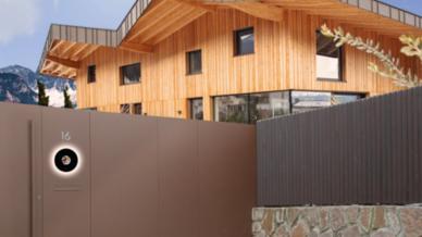 Die Video-Türsprechstelle Divus Circle ist eine smarte Schnitt-stelle zwischen der Außenwelt und den Hausbewohnern.