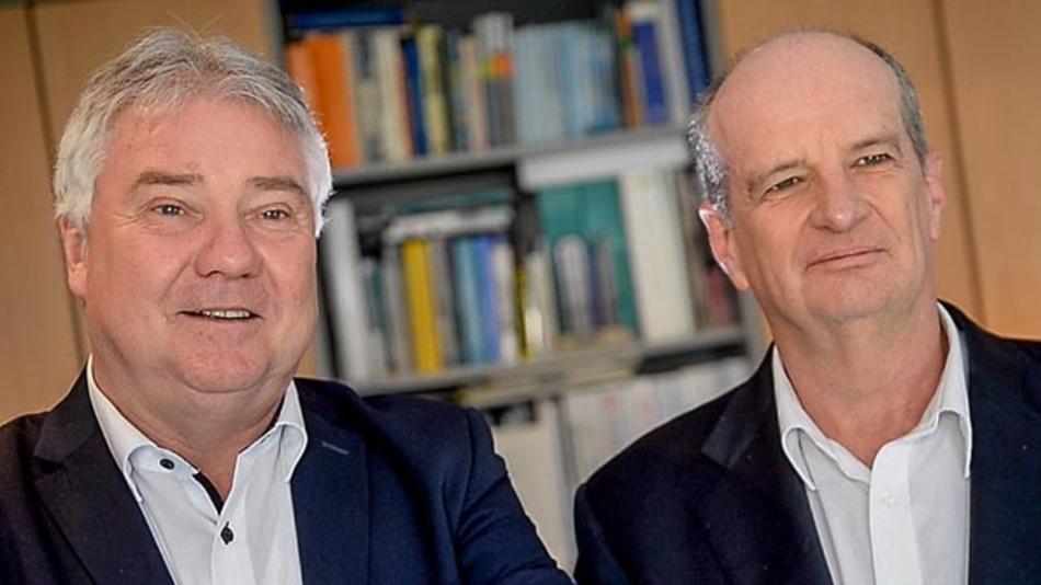 Die Wibu-Gründer Oliver Winzenried (li.) und Marcellus Buchheit.