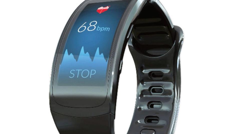 Eine Smartwatch mit einer App, die den Herzrhythmus aufzeichnen kann.