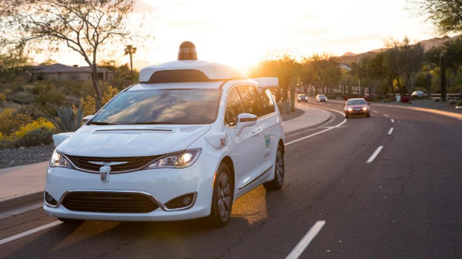 Ein Fahrzeug für den künftigen Robotaxi-Dienst von Waymo.