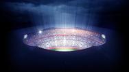 Stadion erleuchtet