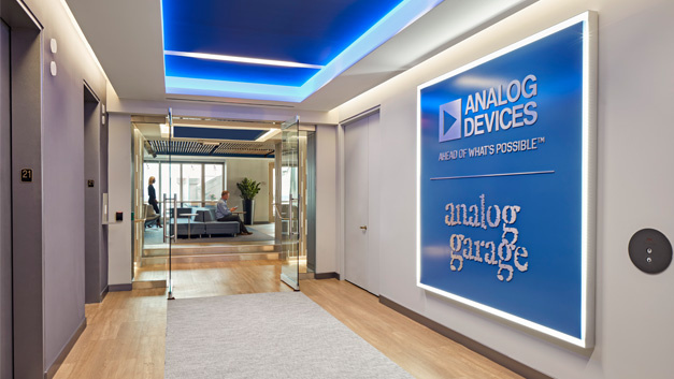 """Analog Devices hält für seine Mitarbeiter eine """"Garage"""" bereit – zum Tüfteln, Experimentieren und Erfinden."""