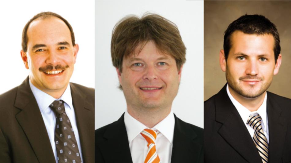 v.l.n.r.: Bernd Lais, Hummel; Stefan Reker, Weidmüller; Ryan Smith, Belden